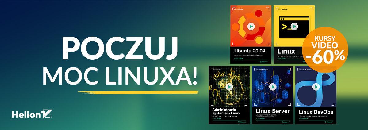 Promocja na ebooki Poczuj MOC Linuxa! [kursy -60%]