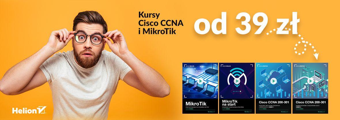 Promocja na ebooki Kursy Cisco i MikroTik od 39 zł