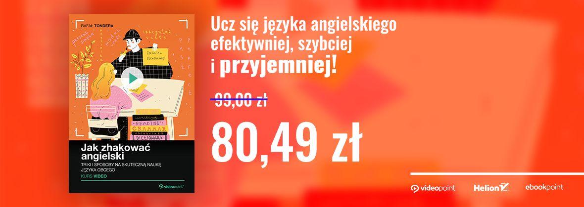 Promocja na ebooki Zhakuj swój angielski!
