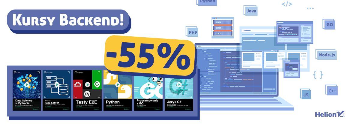 Promocja na ebooki Kursy Backend [-55%]
