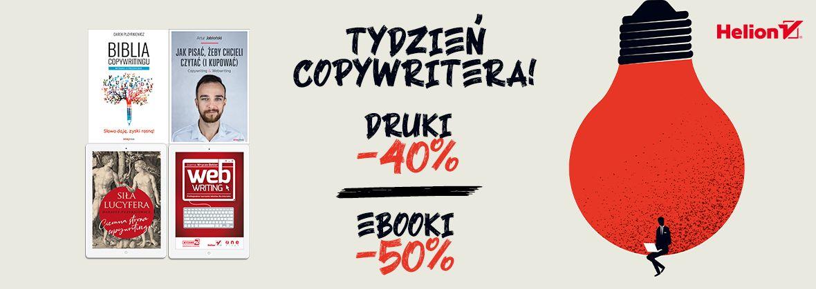 Promocja na ebooki Tydzień Copywritera! [Książki drukowane -40%| Ebooki -50%]