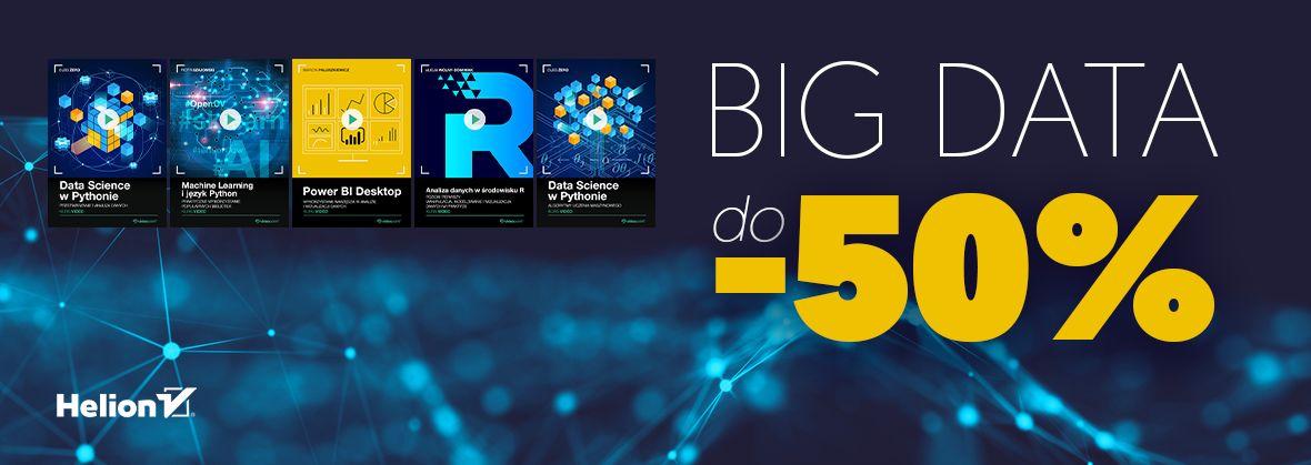 Promocja na ebooki BIG DATA (-50%)