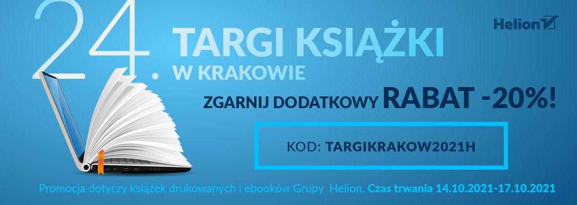 Promocja na ebooki 24. Targi Książki w Krakowie - ZGARNIJ DODATKOWY RABAT -20%!
