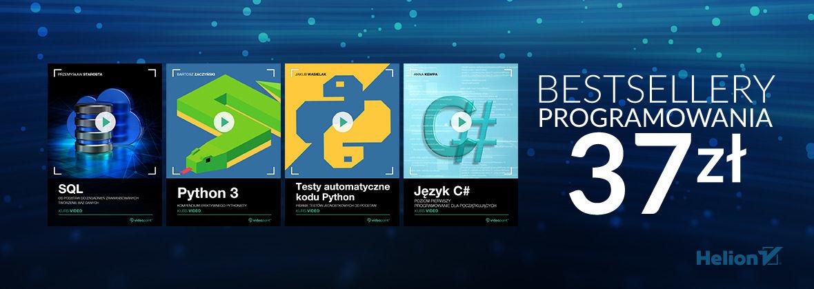 Promocja na ebooki Bestsellery programowania [37.00 zł]