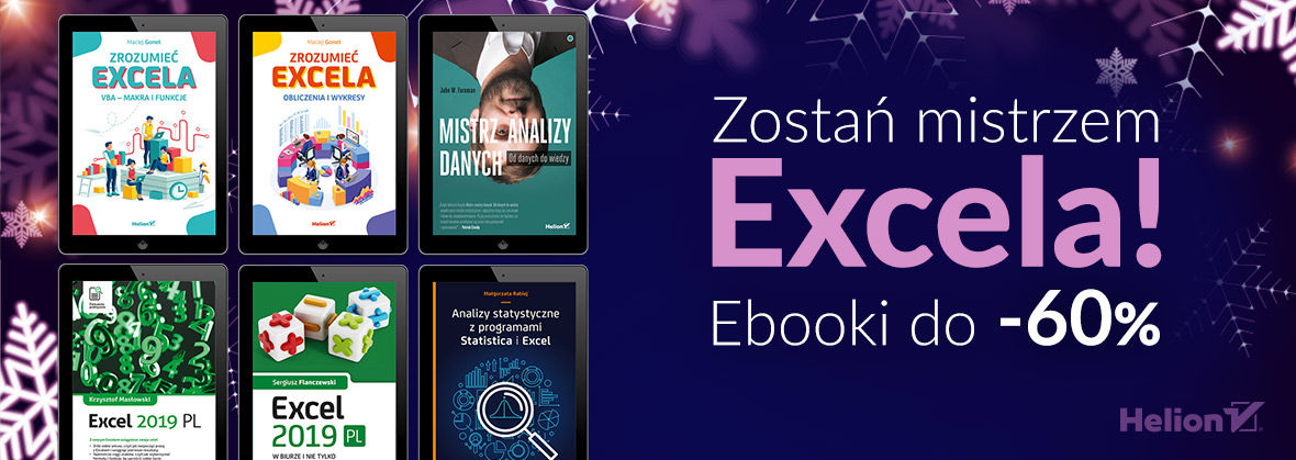 Zostań mistrzem Excela! [ebooki do -60%]