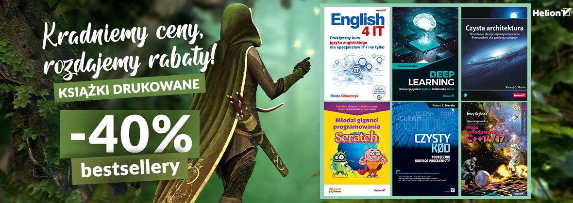 Promocja na ebooki Dzień Robin Hooda [Druki -40%]