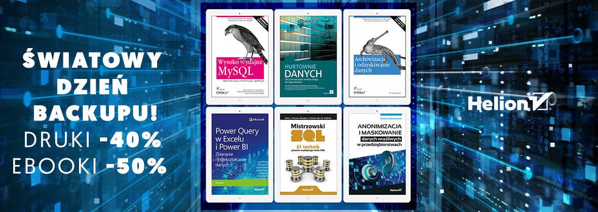 Promocja na ebooki Światowy Dzień Backupu [-40% druki| -50% ebooki]