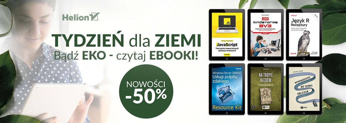 Promocja na ebooki  Tydzień dla ziemi [-50% na ebooki]