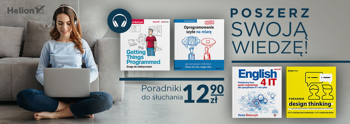 Promocja na ebooki Pomocne w programowaniu [Audiobooki po 12,90 zł]
