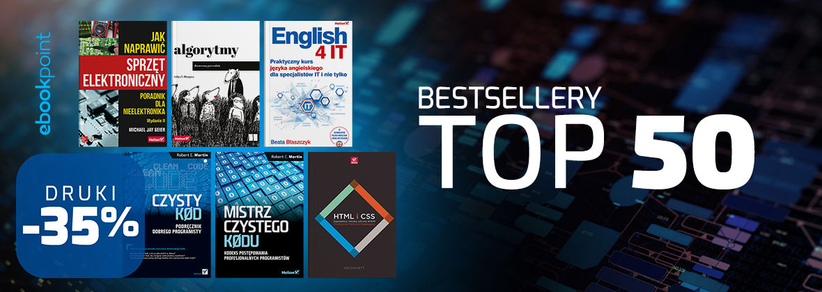 Promocja na ebooki Bestsellery TOP 50 [Druki -35%]