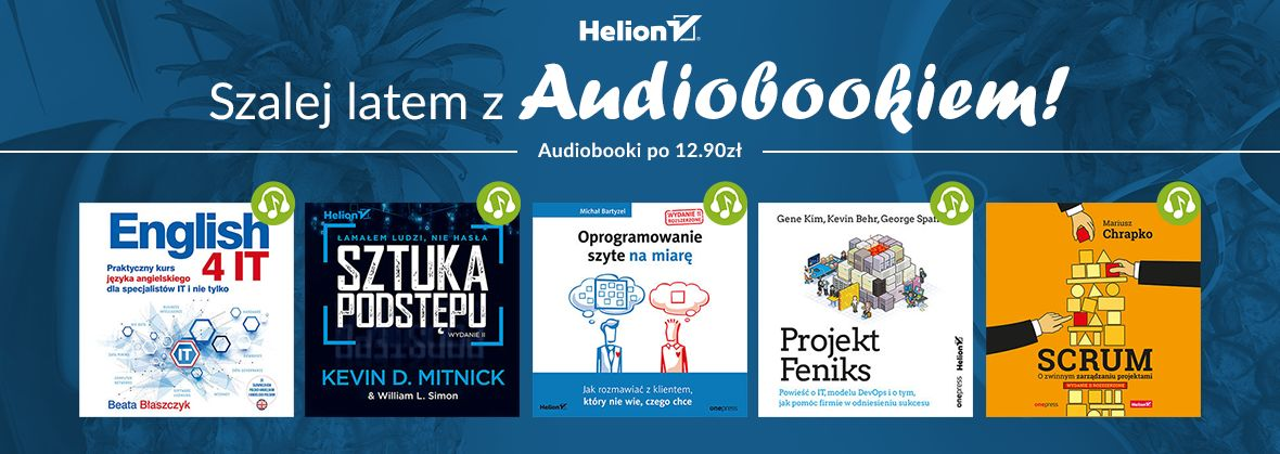 Promocja na ebooki Letnie audiobookowe szaleństwo! [12,90zł]