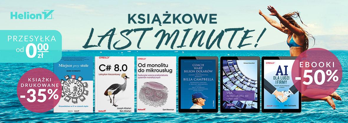 Wakacyjne książkowe last minute! [Książki -35% | Ebooki -50%]