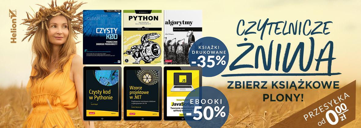 Promocja na ebooki Czytelnicze żniwa - zbierz książkowe plony! [Książki -35% | Ebooki -50%]