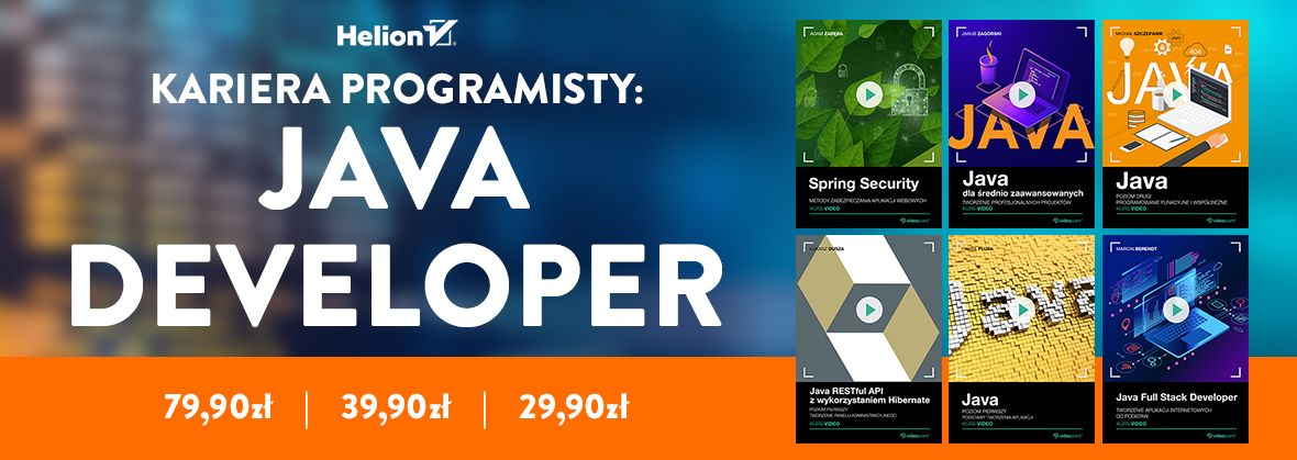 Promocja na ebooki Kariera programisty: Java Developer