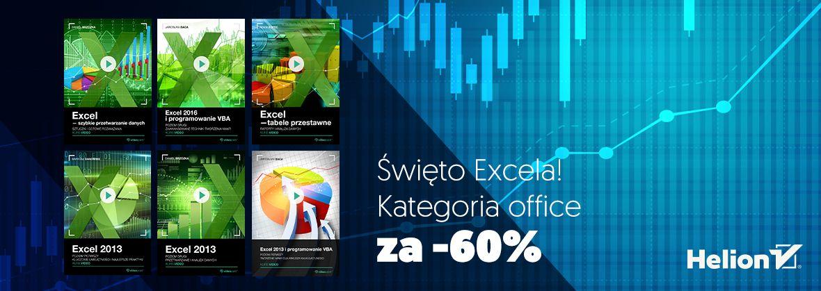 Promocja na ebooki Święto Excela! Kategoria office za -60%