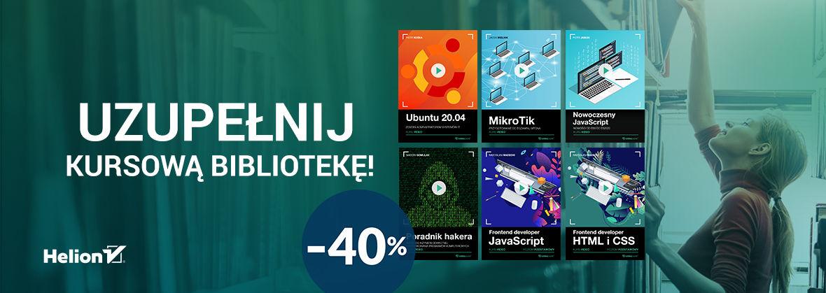 Promocja na ebooki Uzupełnij kursową bibliotekę! [-40%]