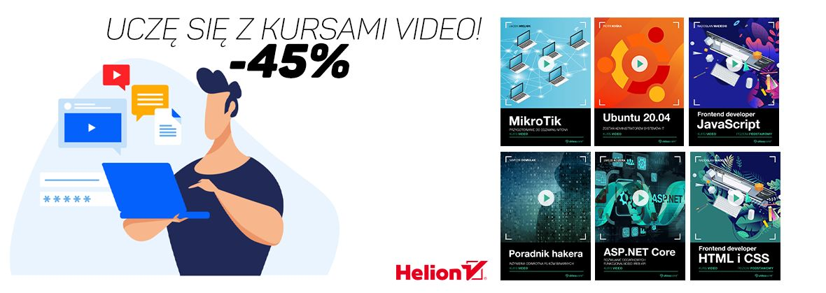 Promocja na ebooki Ucz się z kursami video! [-45%]
