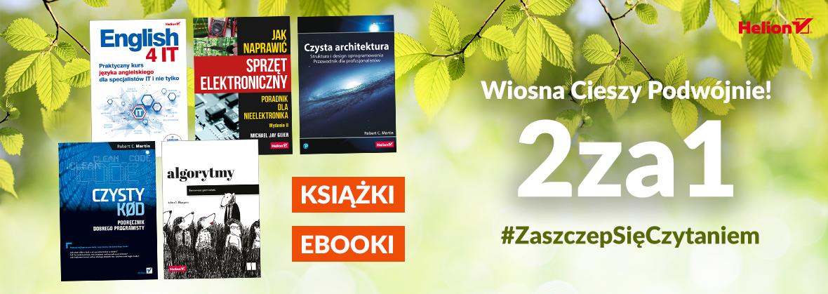 Promocja na ebooki [2za1] Wiosna Cieszy Podwójnie!