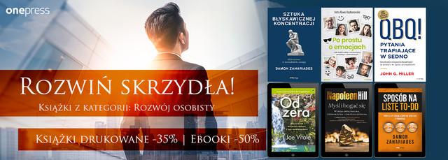 Rozwiń skrzydła ~ Książki drukowane -35% | Ebooki -50%