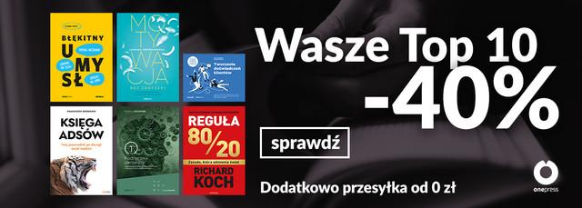 [-40%] TOP 10 Książek!