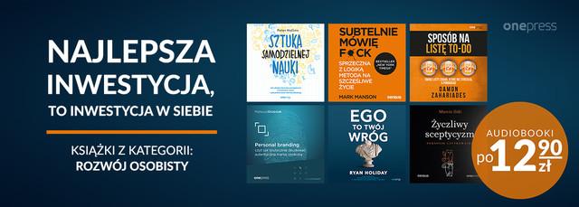 Inwestycja w siebie ~~ Audiobooki po 12.90 zł