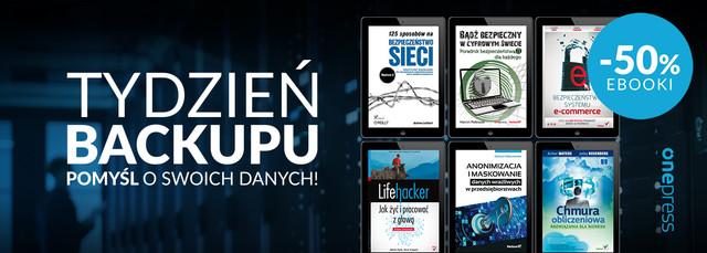 Tydzień Backupu ~ wybrane ebooki - 50%