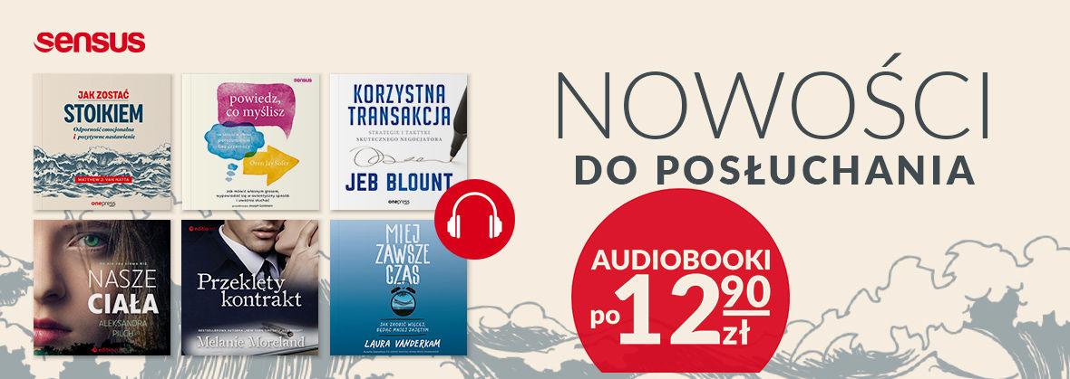 Promocja na ebooki Nowe tytuły w wersji do posłuchania