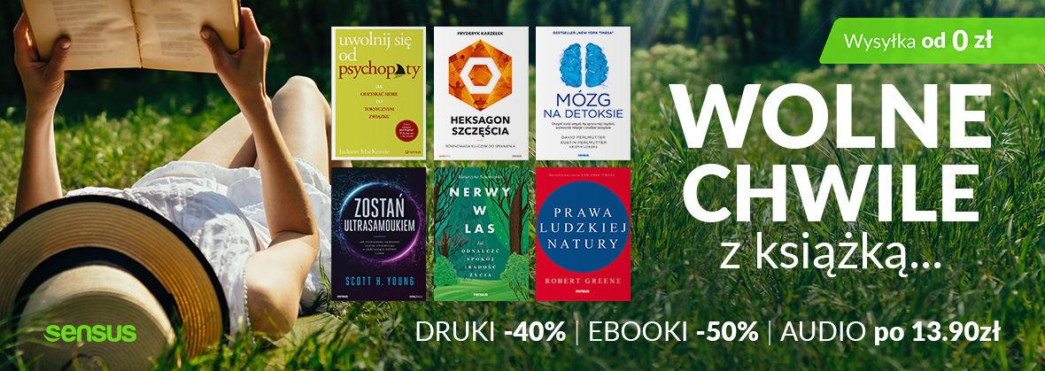 Promocja na ebooki Wolne chwile z książką ~ Książki drukowane -40% | Ebooki -50% | Audiobooki po 13.90zł