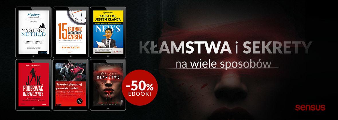 Promocja na ebooki Kłamstwa i sekrety ~ EBOOKI -50%