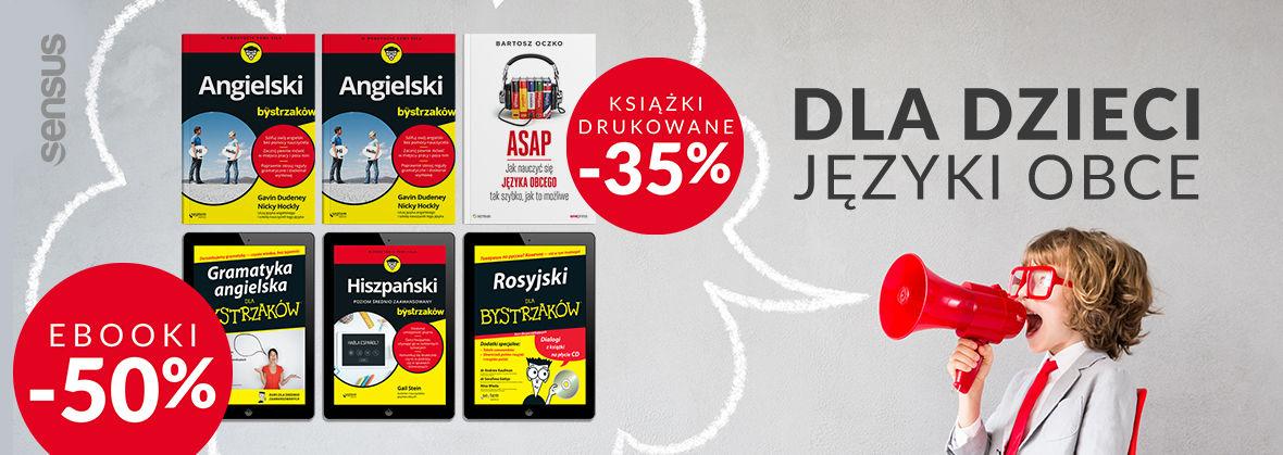Promocja na ebooki Języki obce [Ebooki -50% | Druki -35%]