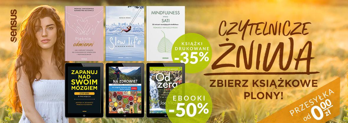 Promocja na ebooki Czytelnicze żniwa - zbierz książkowe plony! [DRUKI -35% | EBOOKI -50%]