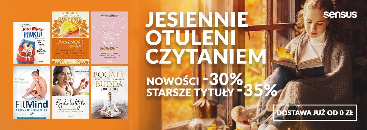 Promocja na ebooki Jesiennie otuleni lekturą [Książki drukowane od -30% do -35%]