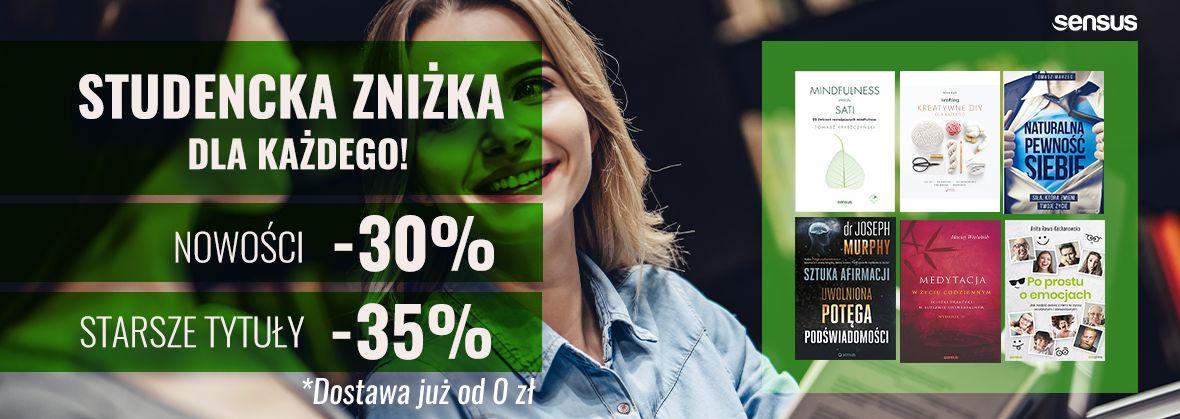 Promocja na ebooki Studencka zniżka dla wszystkich! [Druki -30%| -35%]
