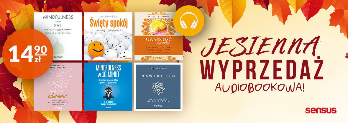 Promocja na ebooki Jesienna wyprzedaż audiobokowa [audiobooki po 14.90 zł]