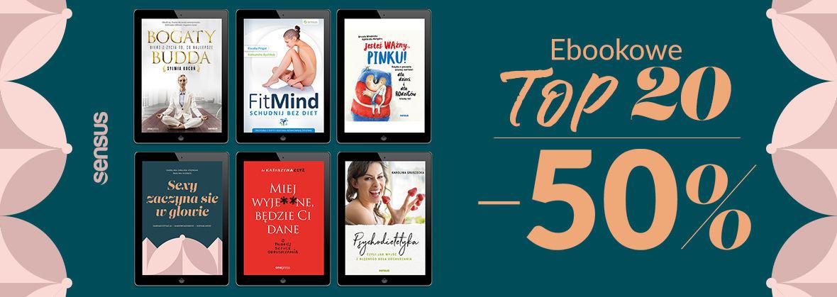 Promocja na ebooki Wasze TOP 20 Ebooków [-50%]