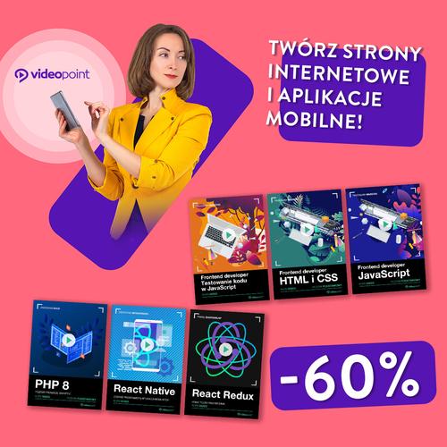 Twórz strony internetowe i aplikacje mobilne! [-60%]